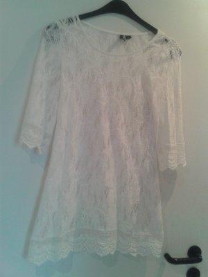 wunderschönes BLOGGER Kleid Spitzenkleidchen weiß - Gr. 34 - NEU !!