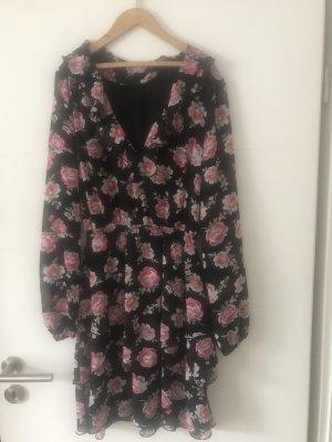 Wunderschönes Blumen Volant Kleid Größe 38