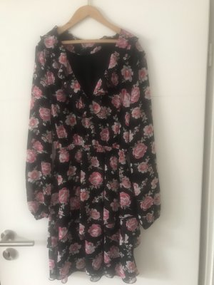 Hennes Collection by H&M Flounce Dress black-raspberry-red
