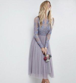 Asos Midi Dress grey violet-azure
