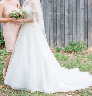 Abito da sposa bianco-bianco sporco
