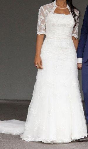 Wunderschönes Brautkleid von David's Bridal, New York! Größe 34, ivory
