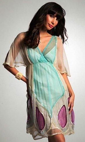 Wunderschönes Butterfly Sommerkleid Strandkleid mit Pailletten von ASOS Luxe Boho Hippie Luxus Gr. S