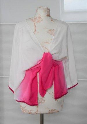 Asos Kimono blouse wit-roze