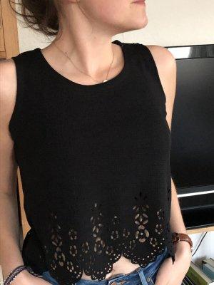 SheIn Cropped top zwart