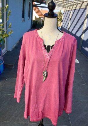100% Fashion Camisa con cuello V violeta