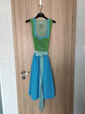 Abito tradizionale turchese-verde