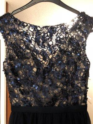 Wunderschönes dunkelblaues Abendkleid Größe 36