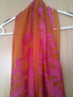 Escada Foulard magenta-orange fluo soie
