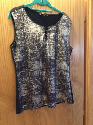 Comma Knitted Top dark blue-silver-colored