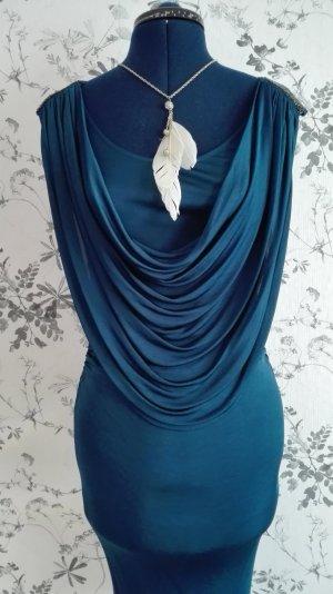 Wunderschönes fließendes Kleid in dunklem petrol/blau.
