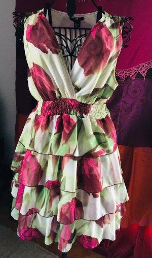 Wunderschönes Flowerpower-Kleid, Gr. 38