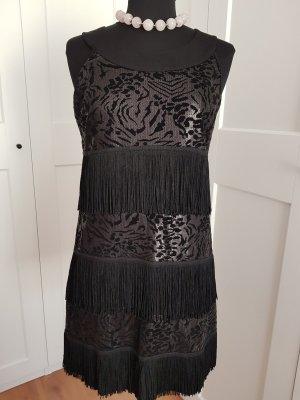 Comma Fringed Dress black polyester
