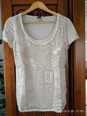 B&C collection T-shirt imprimé beige clair