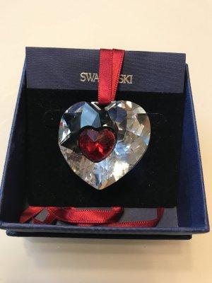 Swarovski Pendant white-dark red