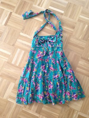 Wunderschönes grünes leichtes Sommerkleid mit Blumen Print