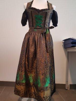 Hammerschmid Vestido Dirndl verde-marrón arena