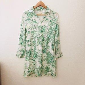 wunderschönes Hemdblusenkleid der Marke Rich&Royal mit Print in grün