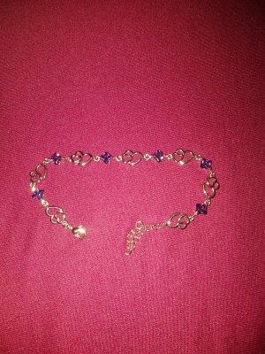 Zilveren armband zilver-lila