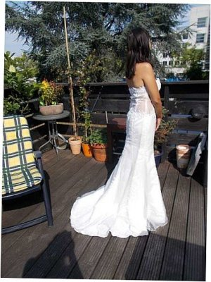 Wedding Dress natural white-white silk