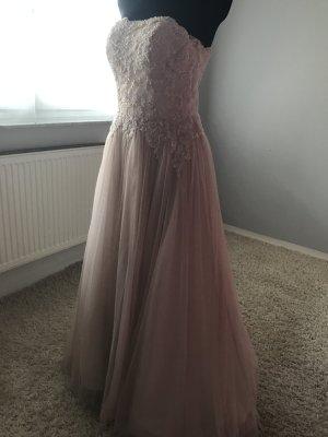 Vestido de novia color rosa dorado