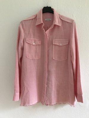 Zara Woman Camicia denim rosa chiaro Cotone