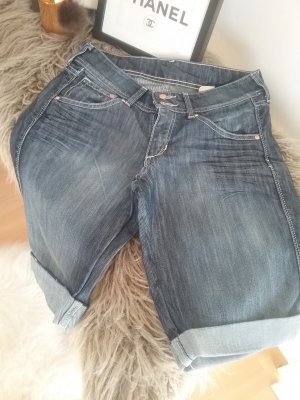 H&M Denim Shorts dark blue cotton