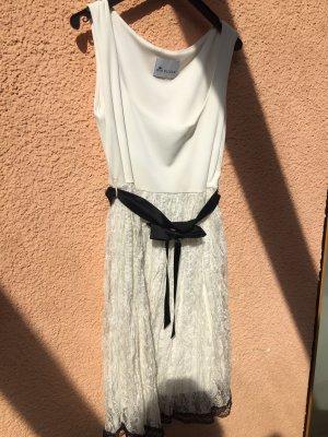Ana Alcazar Evening Dress white-black