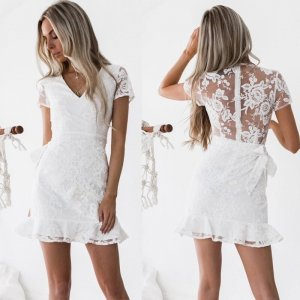 Shortsleeve Dress white