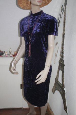 wunderschönes Kleid * changierender Samt * Stehkragen * Top Zustand *