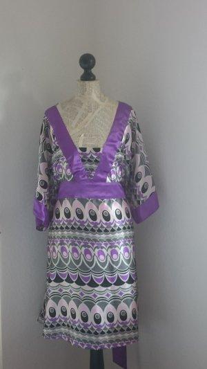 Robe empire multicolore fibre synthétique