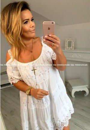 Wunderschönes Kleid in weiß passt bei L-XXL