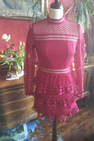 Romeo & Juliet Couture Lace Dress raspberry-red