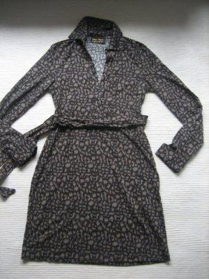 Wunderschönes Kleid mit Animalprint TCM Gr. 36 NEU Braun-Töne
