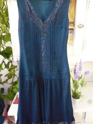 Promod Vestido de chifón azul oscuro Fibra sintética