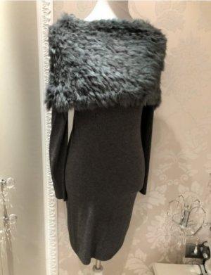 Wunderschönes Kleid/Pullover  von  PREZIOSA mit  Echtfellbesetz...NEU!!(NP 145 )