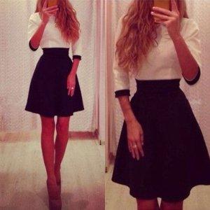 Wunderschönes Kleid schwarz Weiß