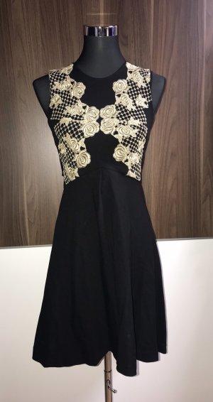 Anna Rita N Midi Dress black-gold-colored