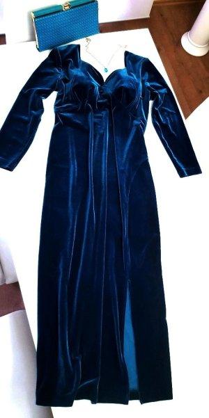 Wunderschönes Kleid von der Marke Chou Chou in einer tollen Farbe Azurblau bis Türkis Gr. 42