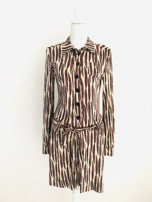 Wunderschönes Kleid von FFC, Seide 100%, beige-rot-braun, Gr. 36