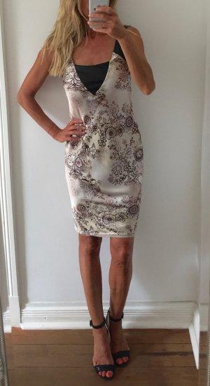 Liu jo Pinafore dress oatmeal-dark brown polyester