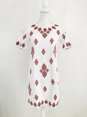 Michael Kors Midi-jurk donkerrood-wit