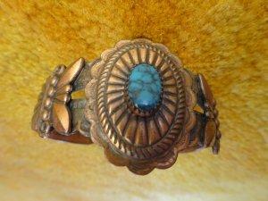 Bracelet de bras rouille-bleuet métal