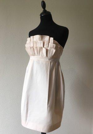 H&M Garden Collection Vestido strapless rosa empolvado-rosa