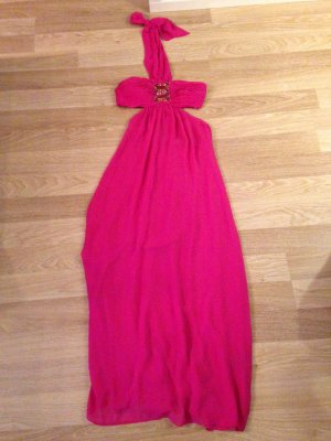 H&M Abito cut out magenta
