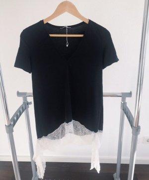 Zara Camicia lunga nero-bianco