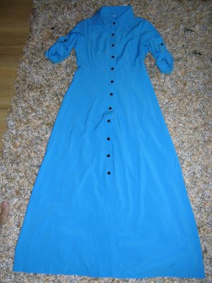 Wunderschönes langes türkises Kleid, Gr. S, Neu!!!