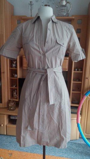 Wunderschönes leichtes Damen Sommer Kleid Hemd Kleid Tunika Gr. 36 in Beige TOP