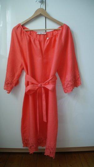 Wunderschönes Leinenkleid mit Häkelspitze von 0039 Italy