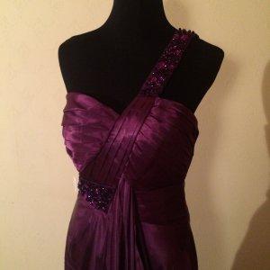 Wunderschönes lila Abendkleid mit Stola